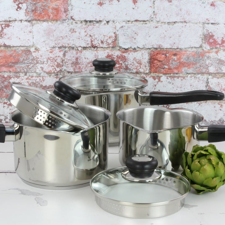 Vista, Draining Saucepan Set,  3 Pieces