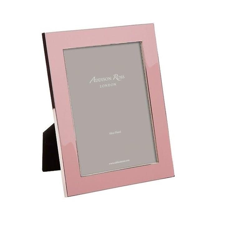"""Enamel Photo Frame - 5""""x7""""; Pale Pink"""