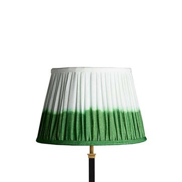 Straight Empire Shade, 35cm, Green Shibori Linen