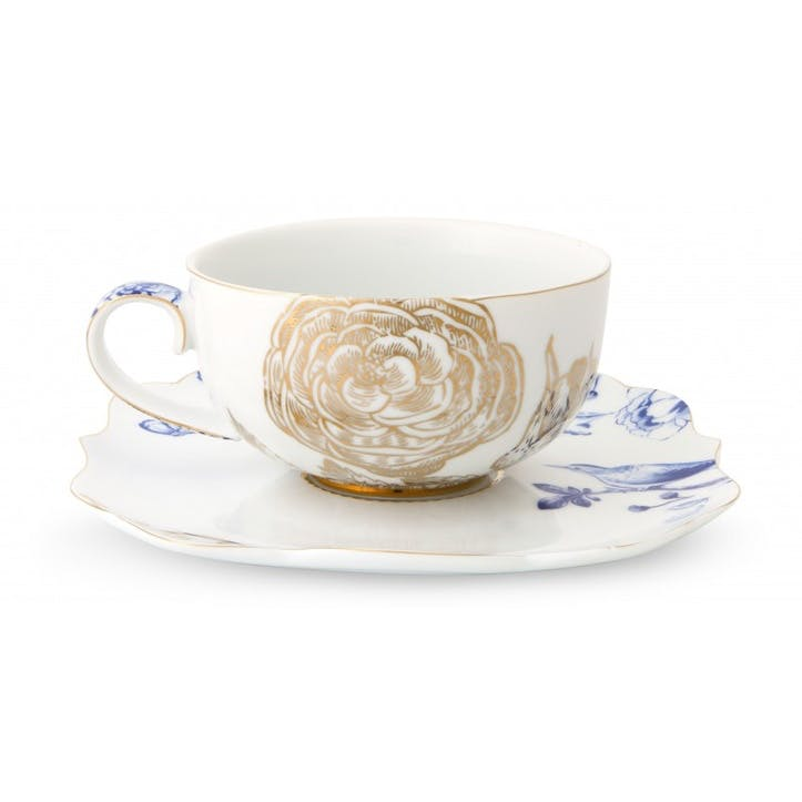 PiP Royal White Tea Cup & Saucer