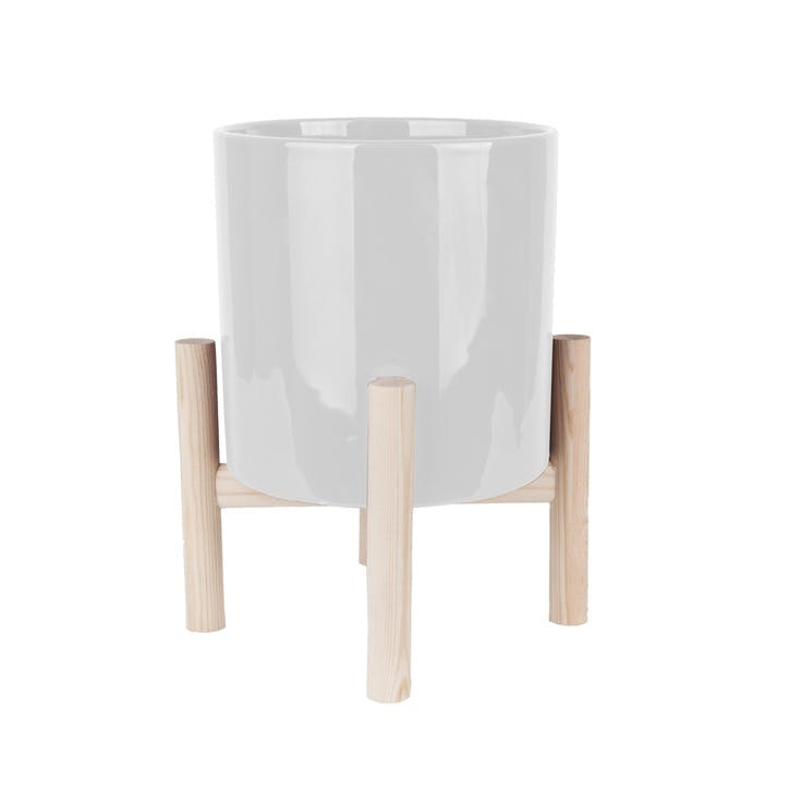 Trestle Plant Pot, White