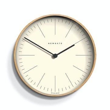 Mr Clarke Wall Clock, D40cm, Pale Wood