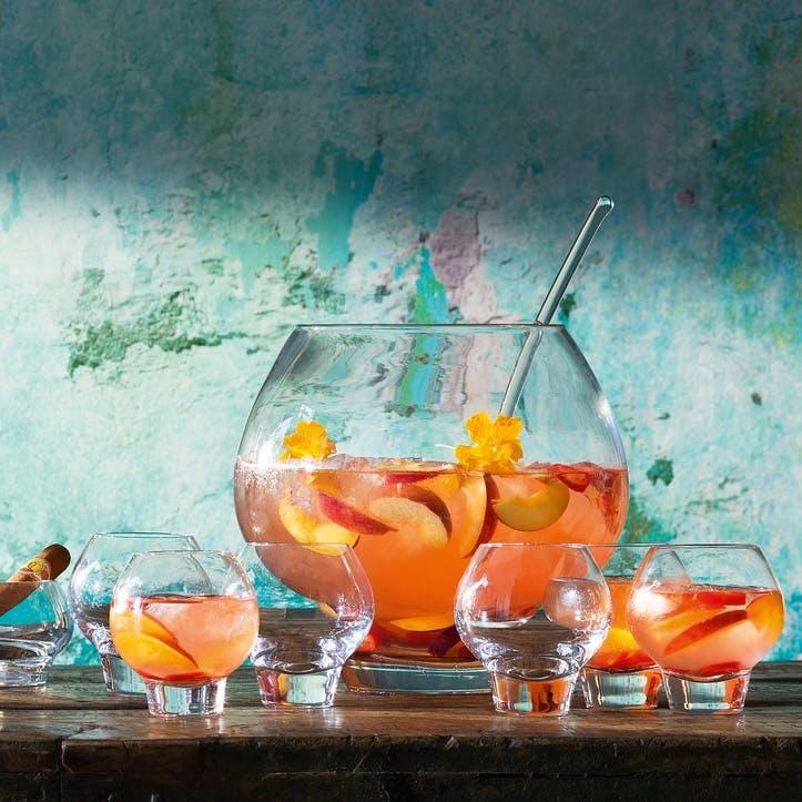Rum Punchbowl Set Clear