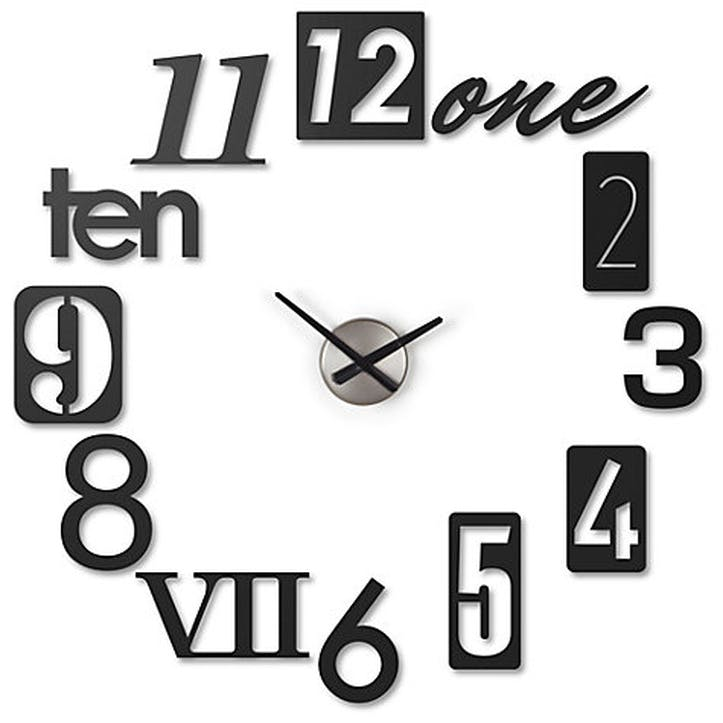 Numbra Wall Clock, Black