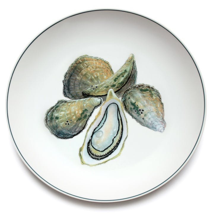Seaflower Oyster Charger Platter, 32cm, Multi