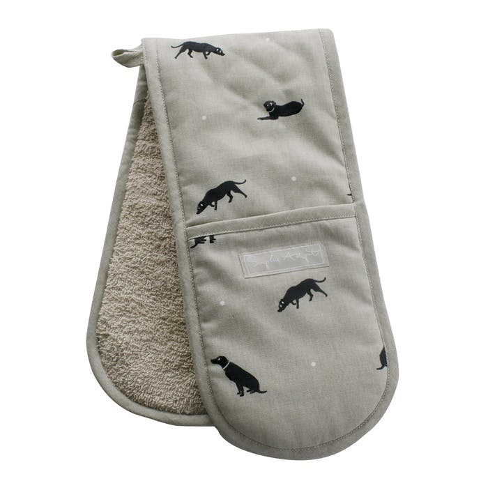 'Labrador' Double Oven Gloves