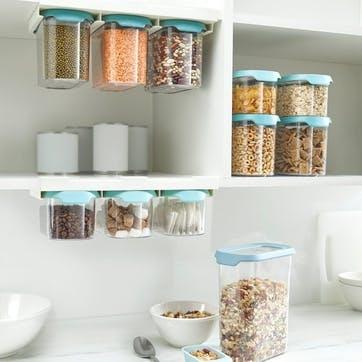 CupboardStore Under-Shelf Food Storage Tub Set, 900ml