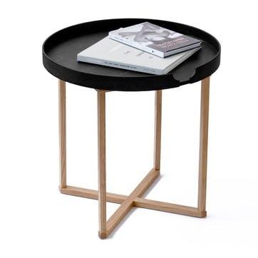 Damien Round Tray Table, Black