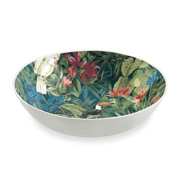 'Lush Jungle' Foliage Melamine Bowl, 23cm