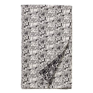 Folk Woven Throw 185 x 145cm, Black & White