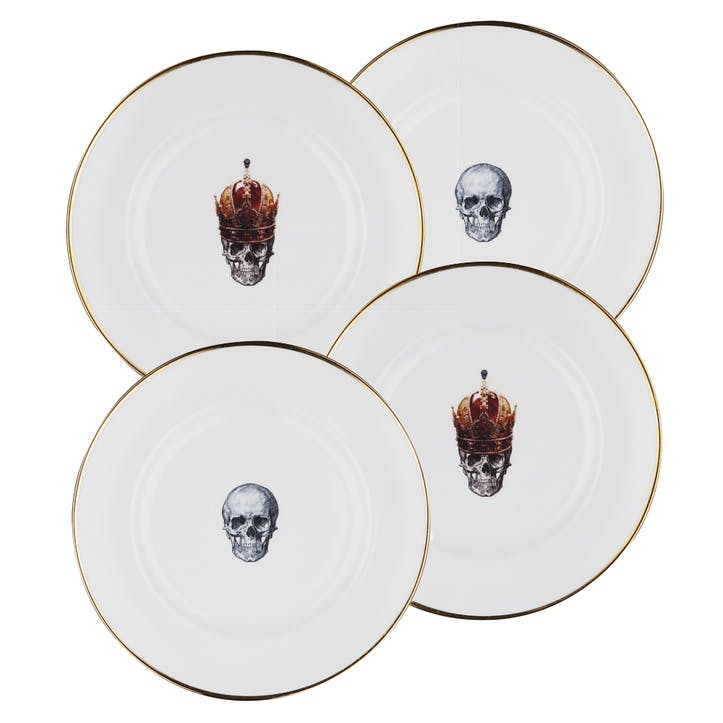 Rock and Roll Mixed Dinner Plates, Set of 4