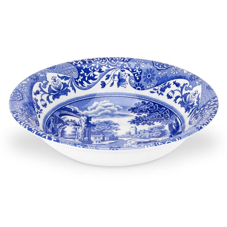 Blue Italian Cereal Bowls, Set of 4