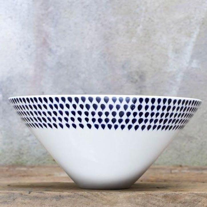Indigo Drop Serving Bowl - Medium