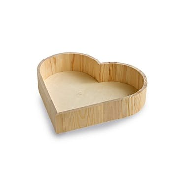 Heart Shaped Wooden Serving Tray