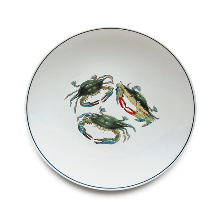 Seaflower Blue Crab Dinner Plate, 28cm, Blue
