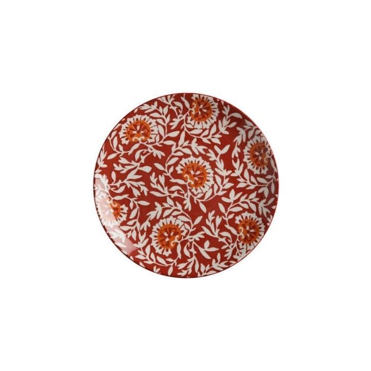 Boho Side Plate, Red