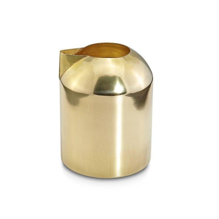 Form Milk Jug; Brass
