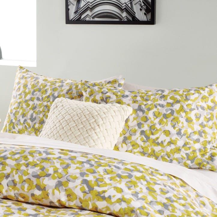 Wild Geo Standard Pillowcase, Ochre
