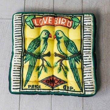 Love Birds Matchbox Seat Pad