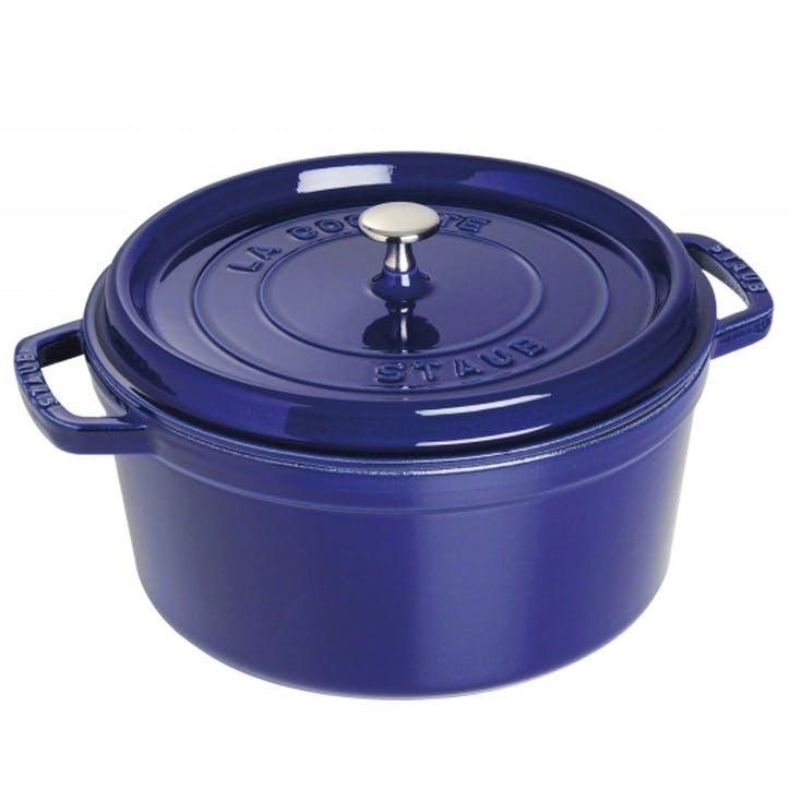 Cast Iron Round Cocotte, Blue