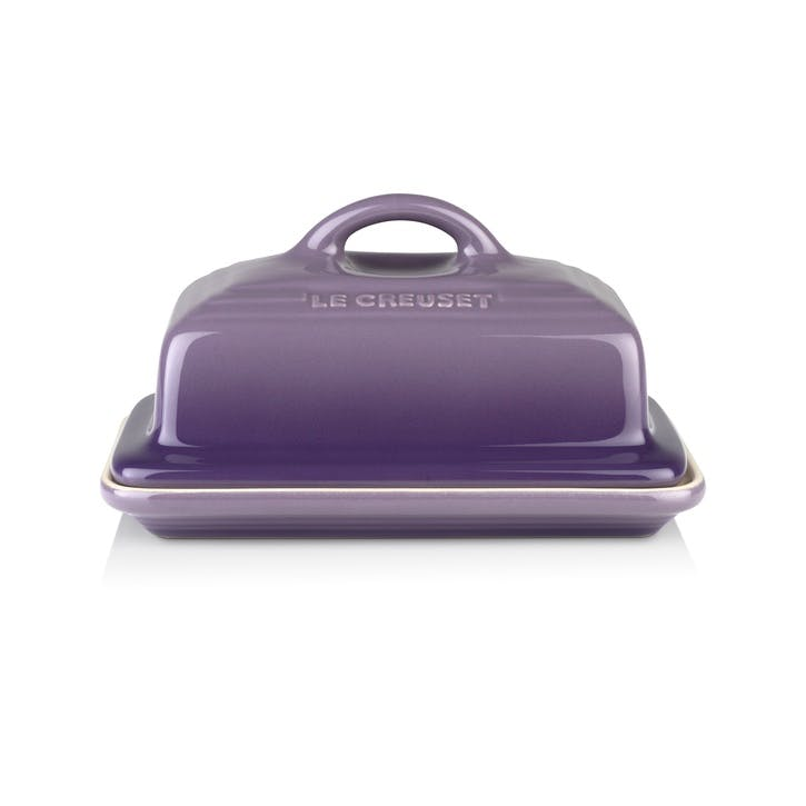 Stoneware Butter Dish; Ultra Violet
