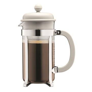 Caffettiera, 8 Cup Coffee Maker, 1 Litre, Off White