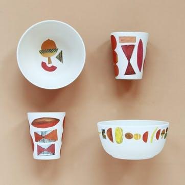 Set of 6 Elements Bamboo Bowls
