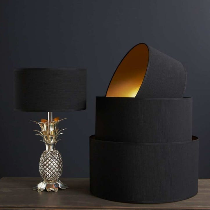 "Black & Gold 14"" Lamp Shade"