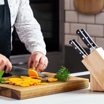 Halo 5 Piece Knife Set with Oak Wood Storage Block