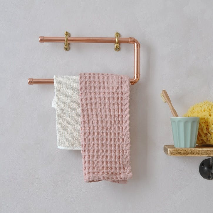 Copper Bathroom Towel Rail