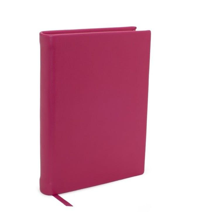 Chelsea Leather Small Plain Journal, Fuchsia