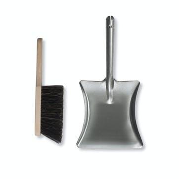 Galvanised Steel Dustpan and Brush