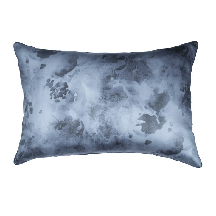 Camo Floral Standard Single Pillowcase, Indigo