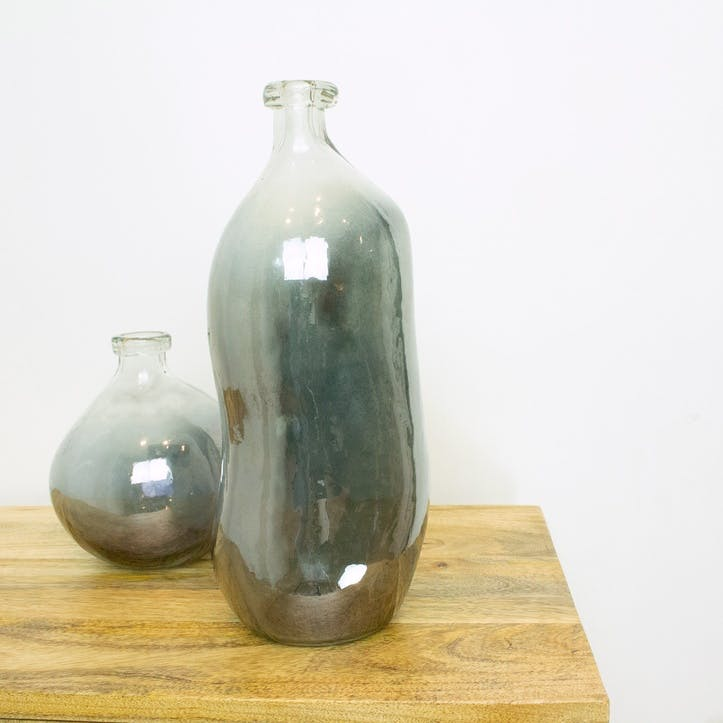 Recycled Glass Tall Ombre Vase