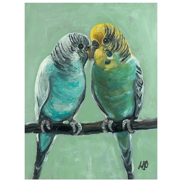 Louise Brown Feathered Friends Canvas, 30 x 40cm