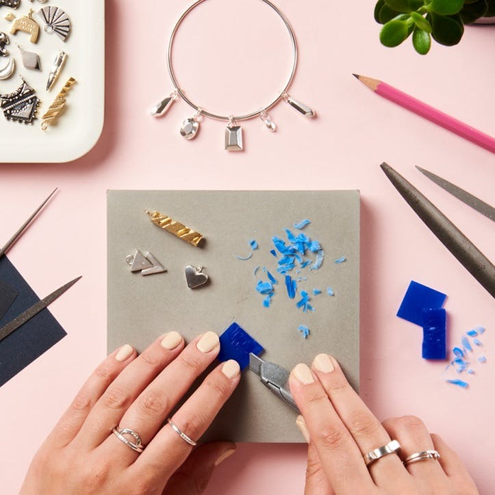 Personalised Silver Jewellery Making Workshop with Prosecco for Two at Posh Totty Designs