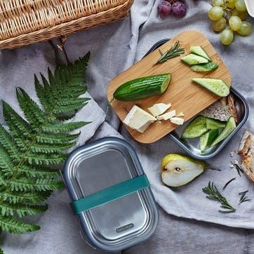 Stainless Steel Lunch Box, 600ml, Ocean