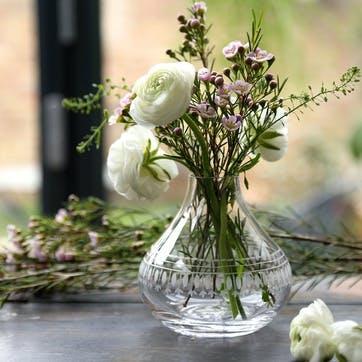 Oval Patterned Crystal Vase