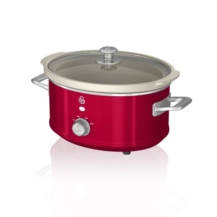 Retro 3.5L Slow Cooker, Red