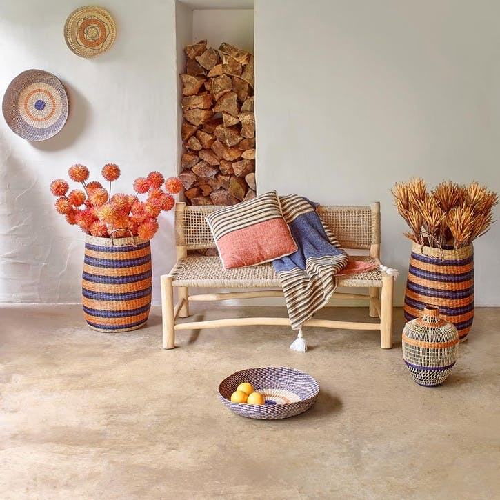 Kirke Set of 2 Seagrass Baskets, Multi