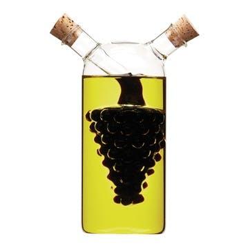 Italian Grape Design 2 in 1 Oil & Vinegar Cruet Bottle