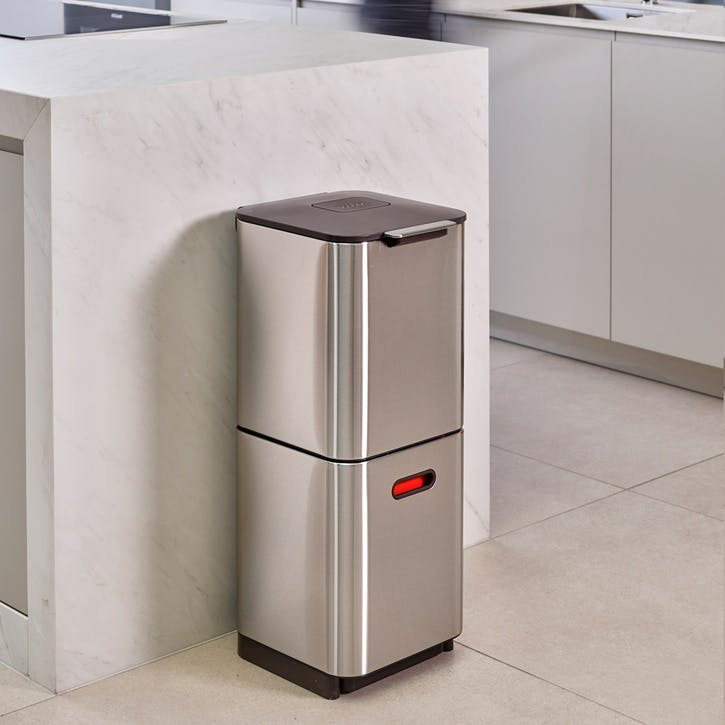 Totem Compact 40 Recycling Bin, Stainless Steel
