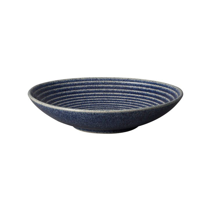 Studio Blue Chalk Cobalt Ridged Bowl