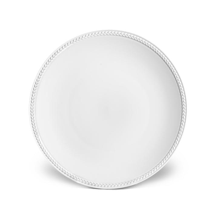 Soie Tressée Dessert Plate, White