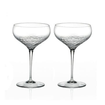 Sequin Champagne Coupe, Set of 2