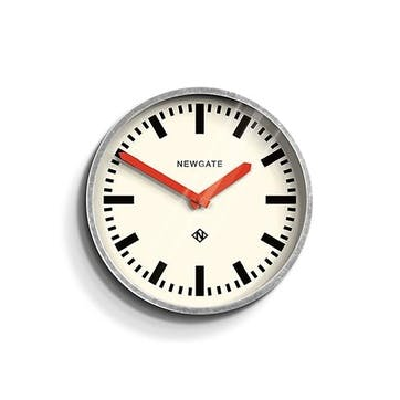 The Luggage, Wall Clock, W30cm x D7cm x H30cm, Red hands
