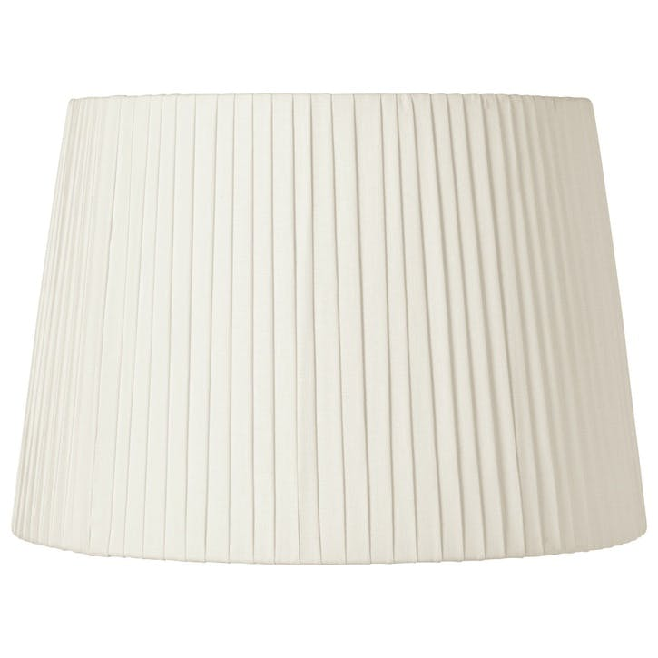 Pleated Linen Lampshade, 45cm, Off-White