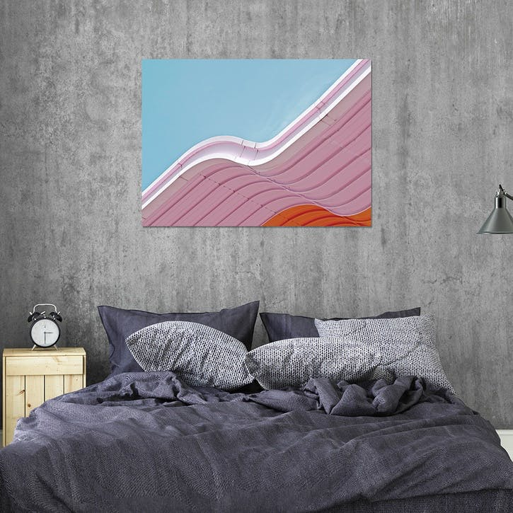 Low Angle View Of Pink Slide Against Sky ChromaLuxe Metal Print, H51 x W76cm, Multi