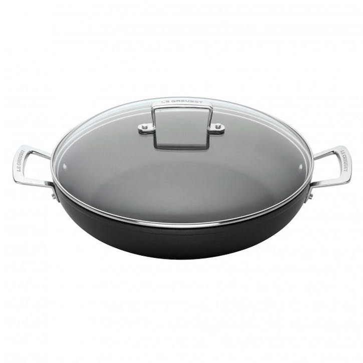 Toughened Non-Stick Shallow Casserole With Lid - 24cm