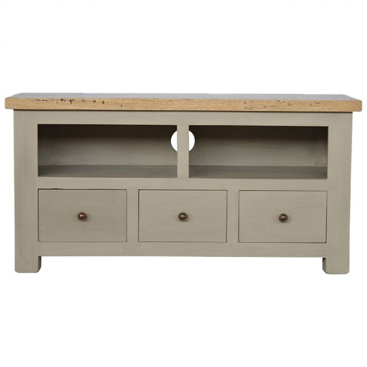 Cotswold Media Unit, Grey/Natural
